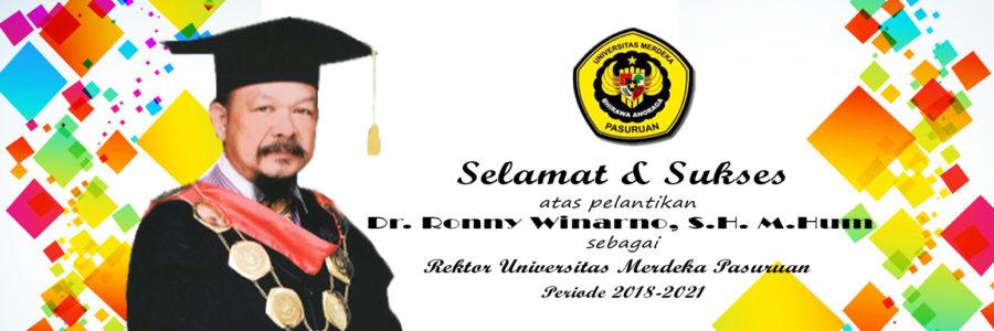 Pelantikan Rektor Universitas Merdeka Pasuruan Periode 2018-2021